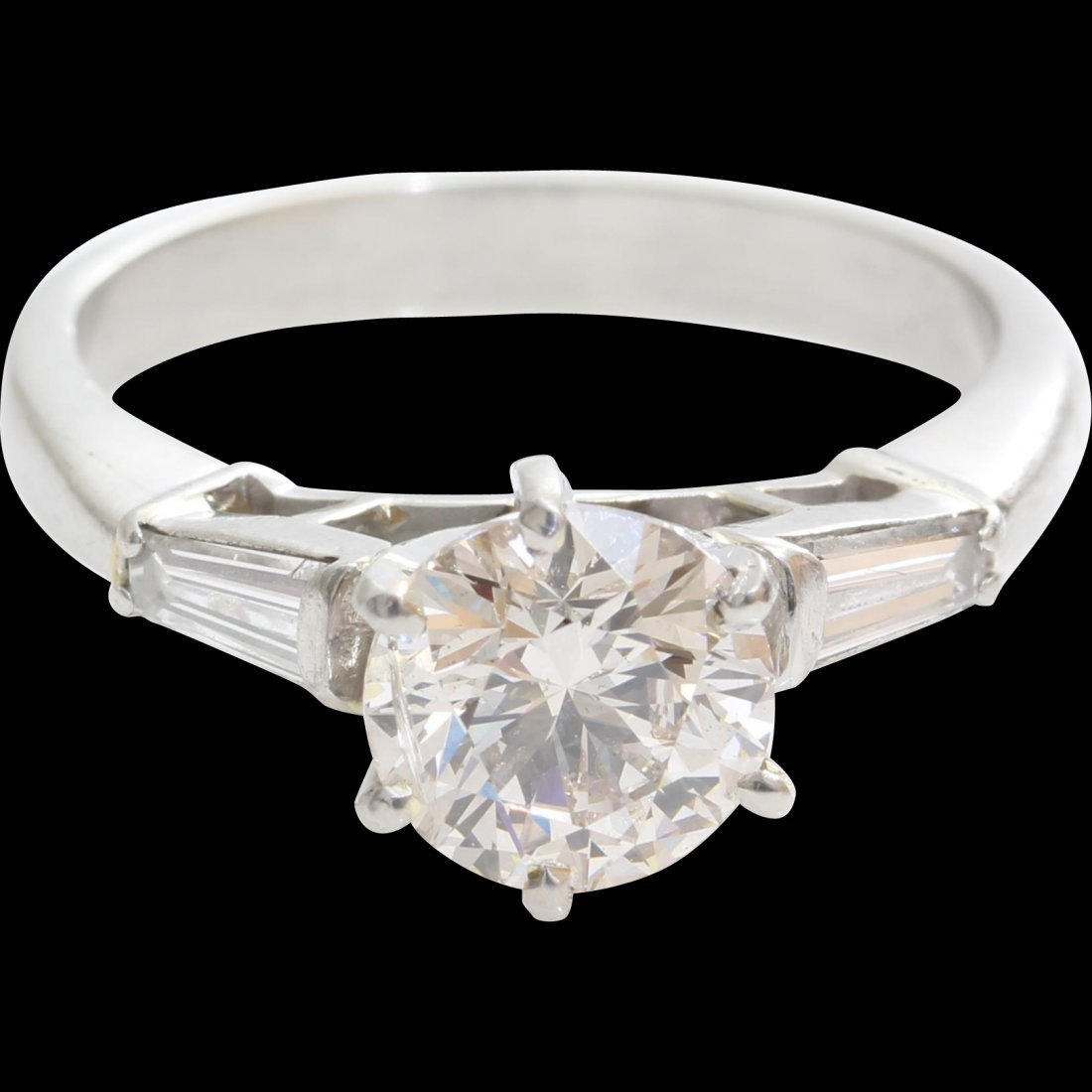 Vintage Diamond Engagement Ring | Platinum Brilliant