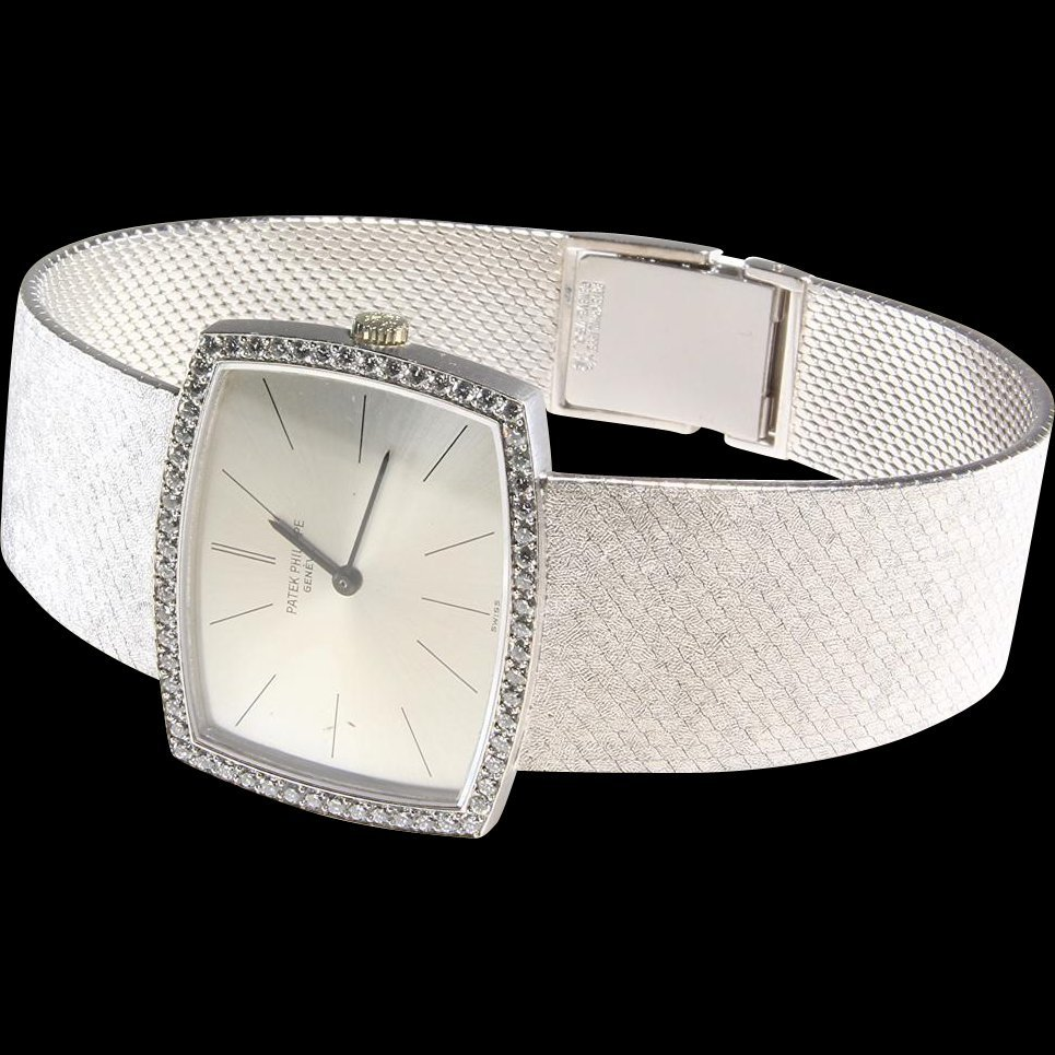 Patek Philippe Mens Watch | 18K White Gold Diamond |