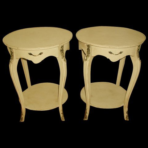 French Side Tables Early 1900's Brass Ormolu Mounts