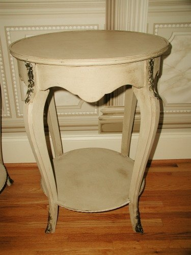 French Side Tables Early 1900's Brass Ormolu Mounts - 4