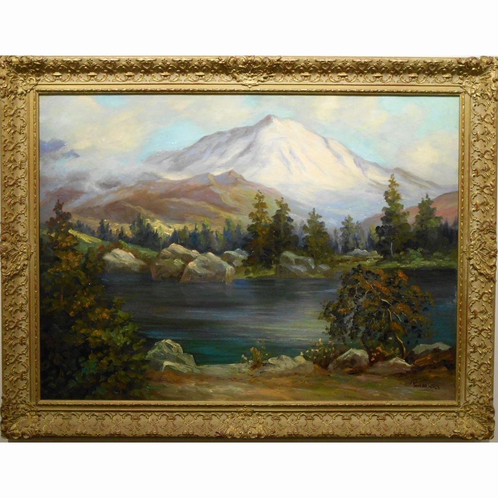 Large Swiss View By American Paul Wesley Arndt c.1940