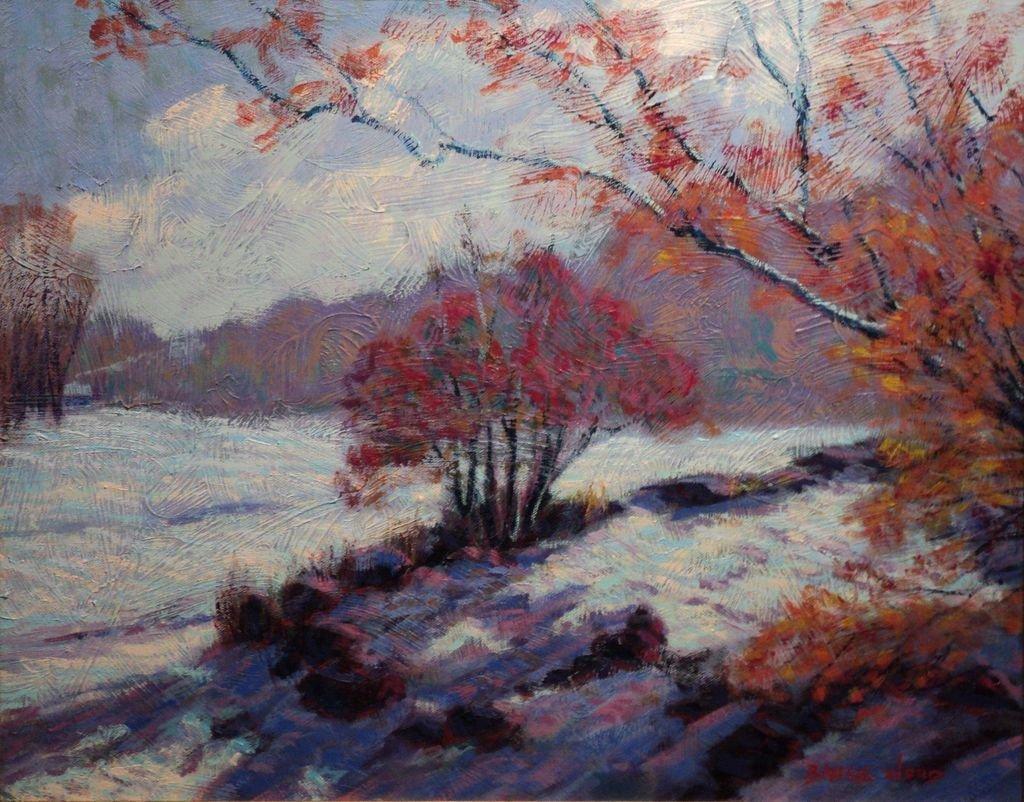 Contemporary Impressionist Snow Scene - 2