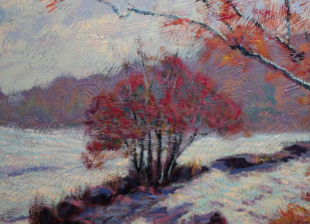 Contemporary Impressionist Snow Scene - 3