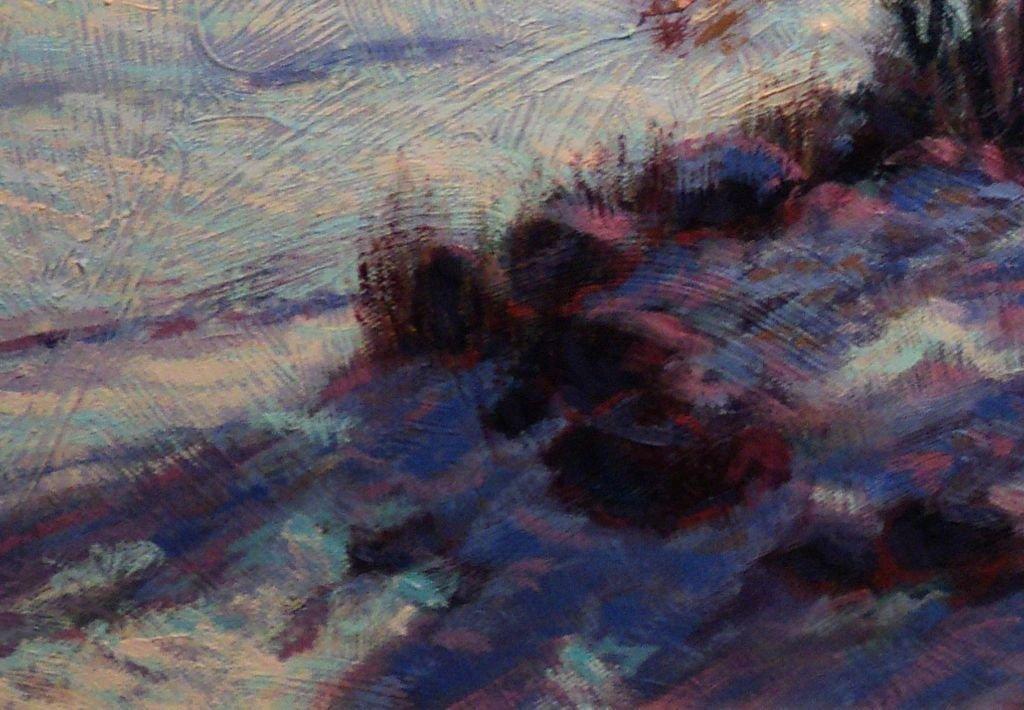 Contemporary Impressionist Snow Scene - 5