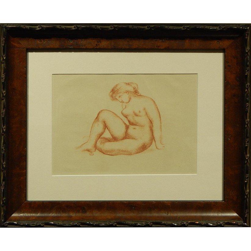Aristide Maillol: Seated Female Nude, Lithograph c.