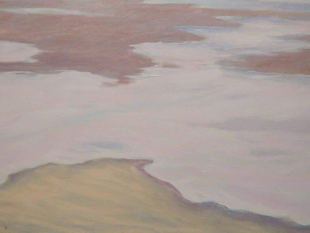 Fog Rolling In: 1987 Oil Painting By Cape Cod Artist S. - 7