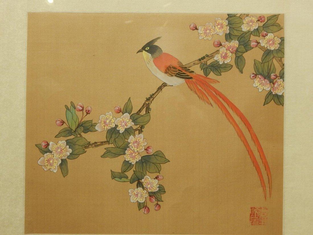 Japanese Silk Painting Of Bird - 2