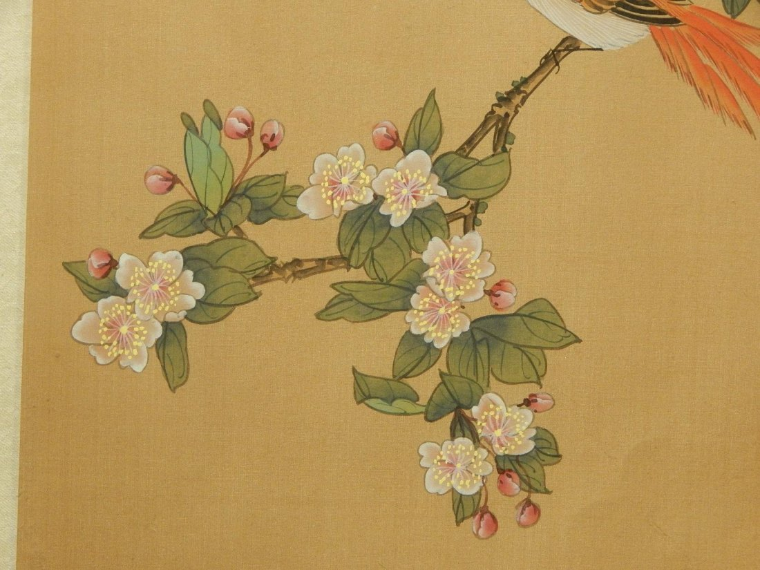 Japanese Silk Painting Of Bird - 3