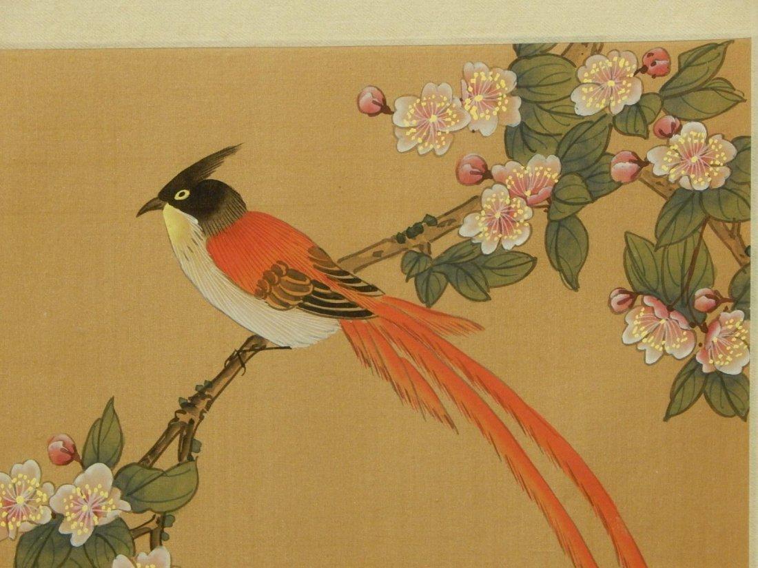 Japanese Silk Painting Of Bird - 4
