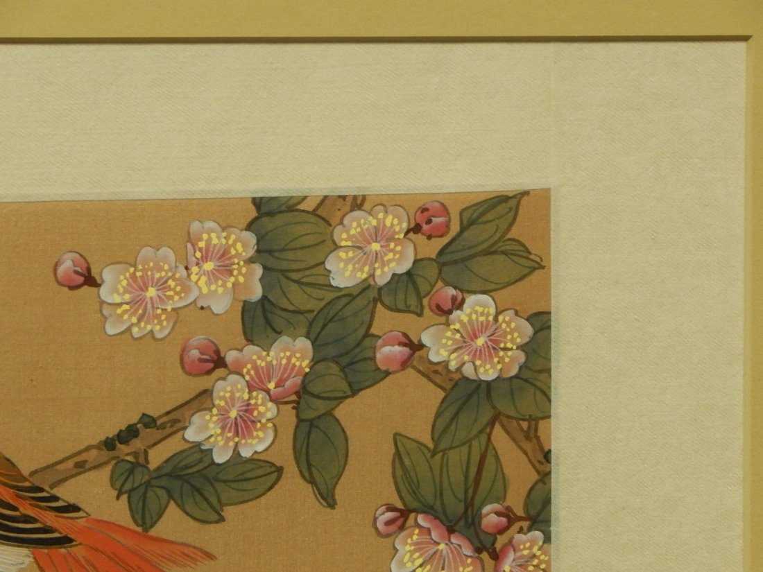 Japanese Silk Painting Of Bird - 5