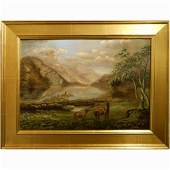 Dramatic New Hampshire Franconia Notch Landscape Oil