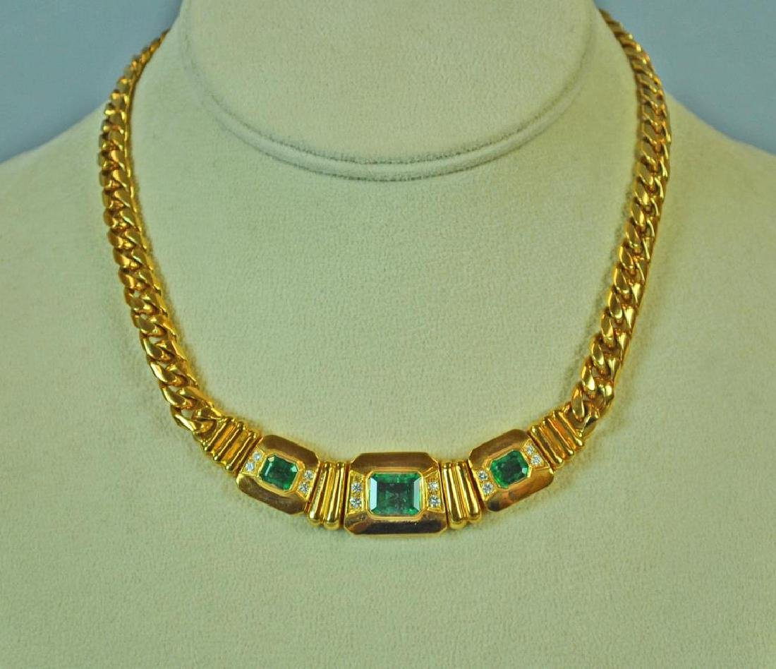 18K EMERALD & DIAMOND CHOKER