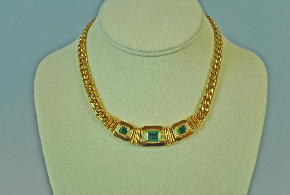 18K EMERALD & DIAMOND CHOKER - 2