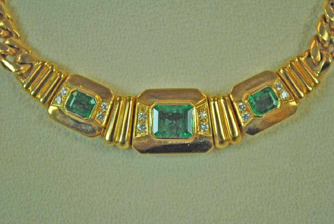 18K EMERALD & DIAMOND CHOKER - 3