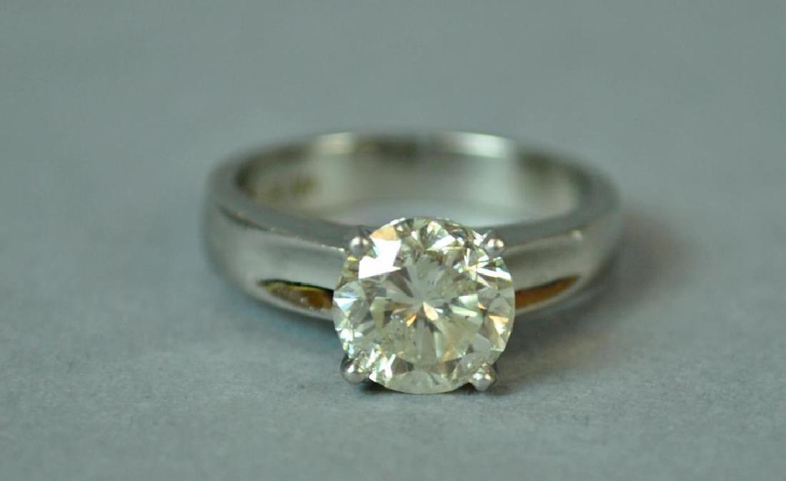 PLATINUM & DIAMOND ENGAGEMENT RING