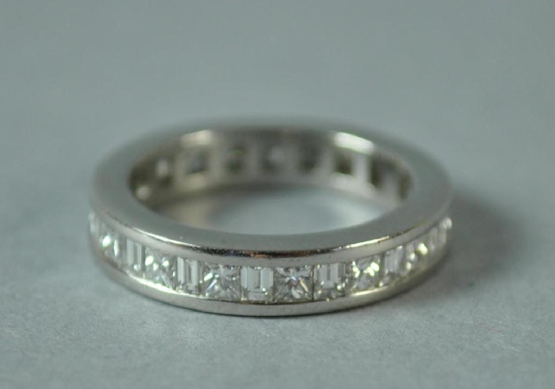PLATINUM & DIAMOND ETERNITY RING, 1.12CTW - 2
