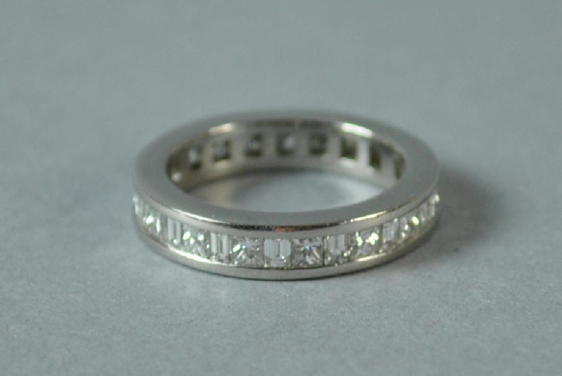 PLATINUM & DIAMOND ETERNITY RING, 1.12CTW - 3