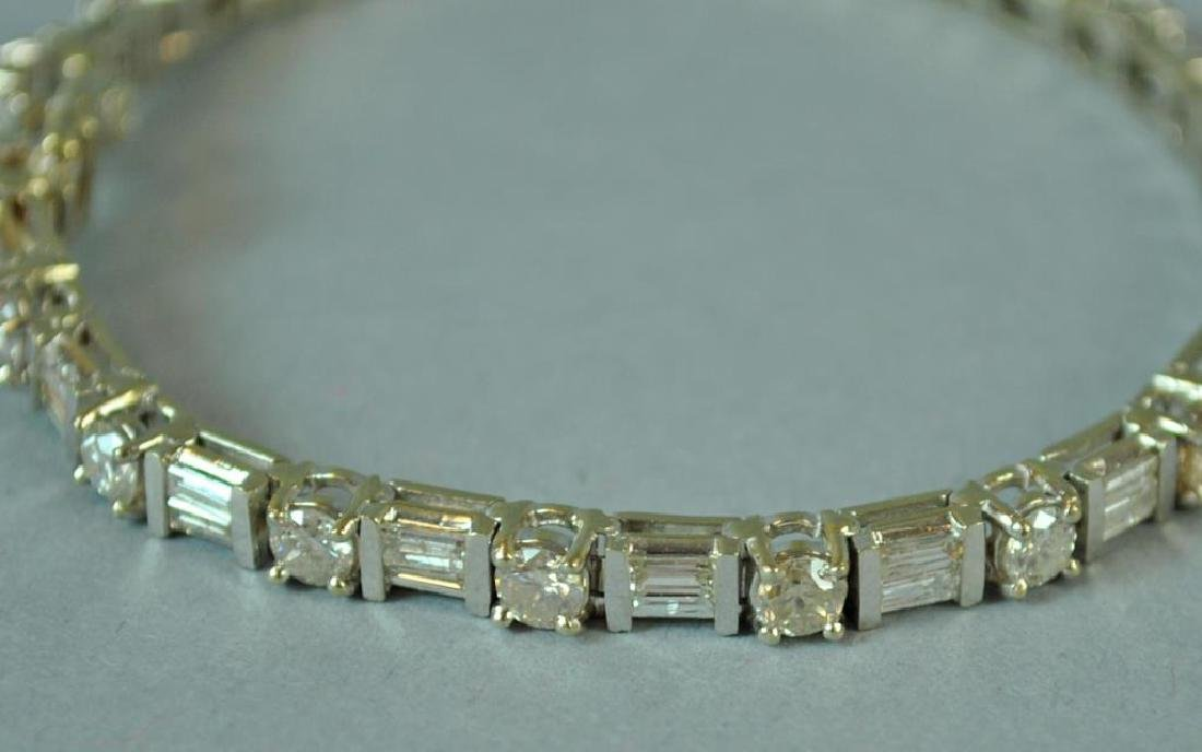 18K DIAMOND TENNIS BRACELET, 6.00CTW - 2