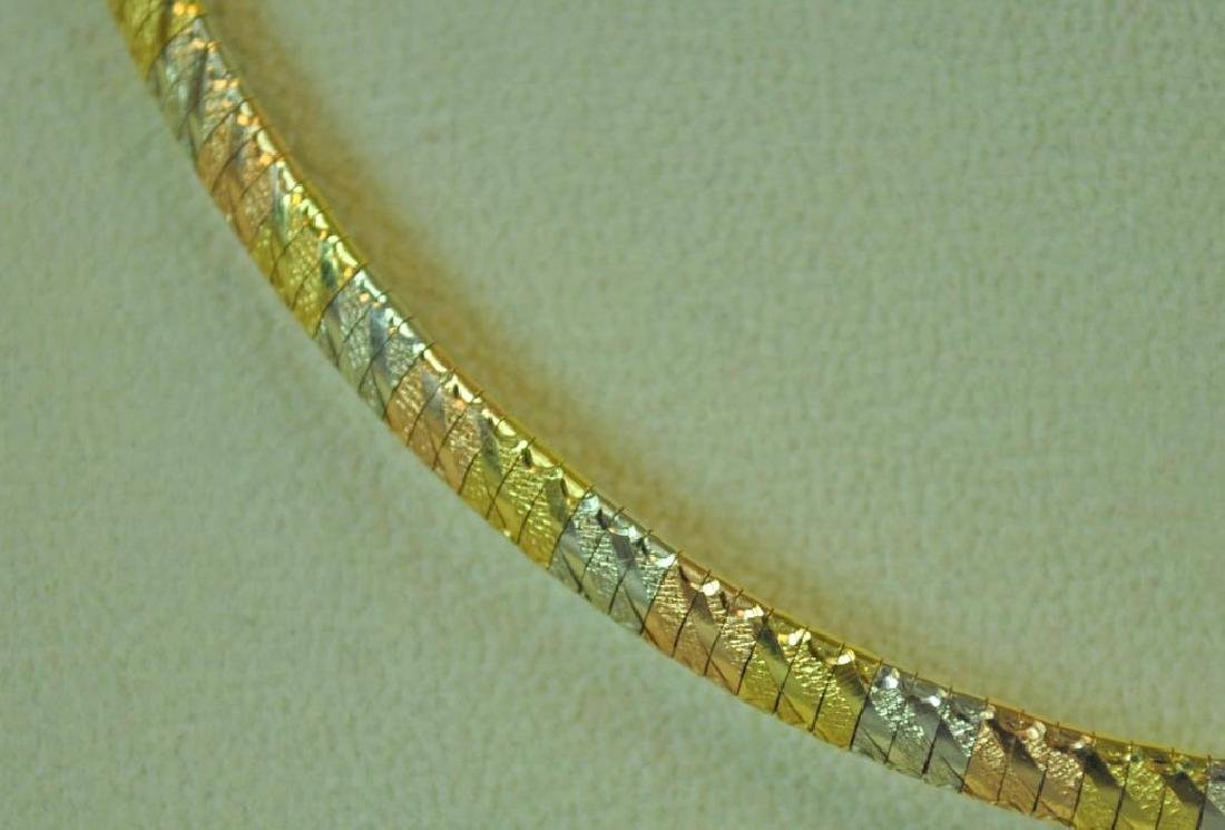 18K TRICOLOR GOLD NECKLACE - 2