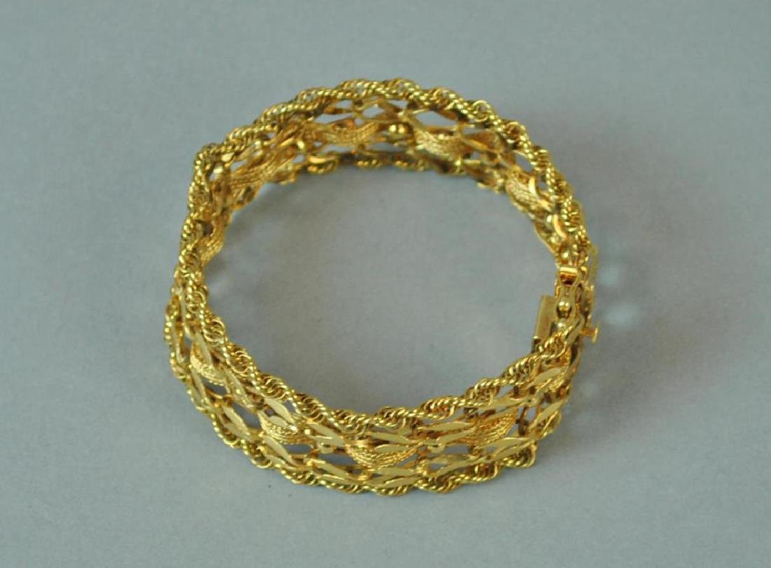 GOLD FANCY LINK BRACELET - 3