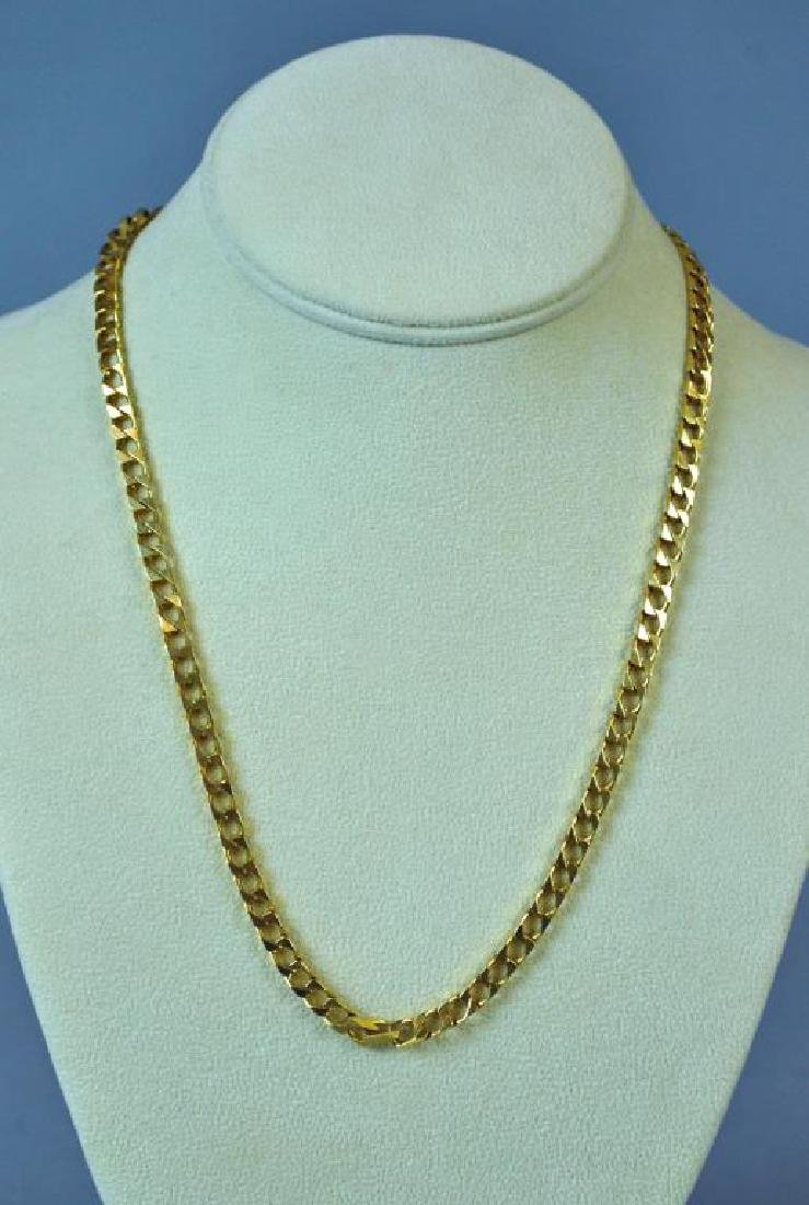 GOLD ANGULAR CURB LINK NECKLACE
