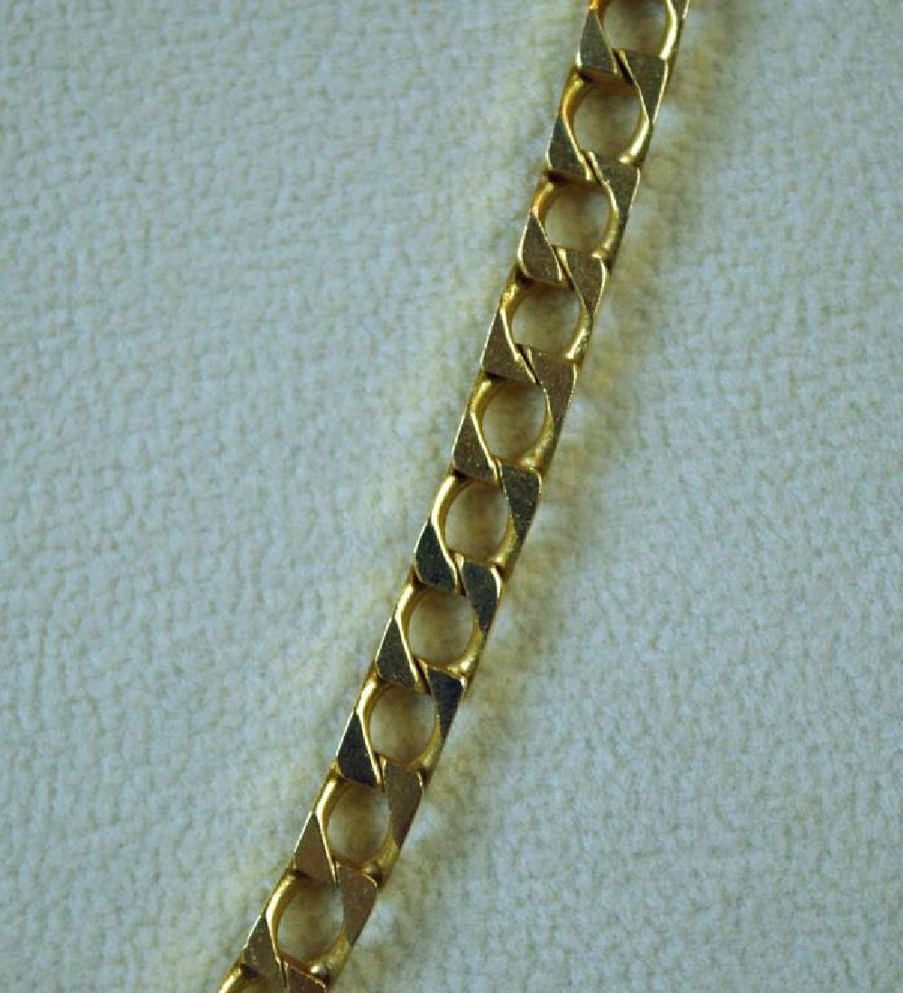GOLD ANGULAR CURB LINK NECKLACE - 2