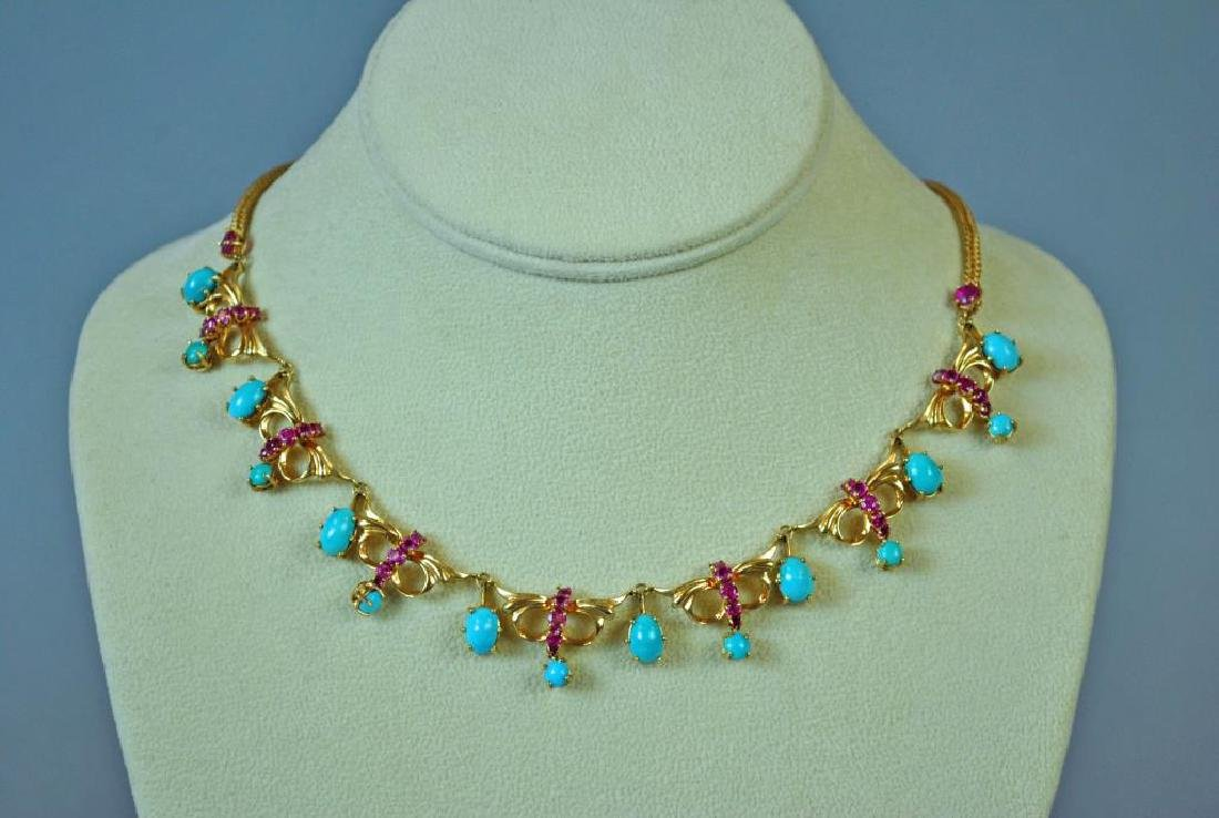 TURQUOISE & RUBY CHOKER