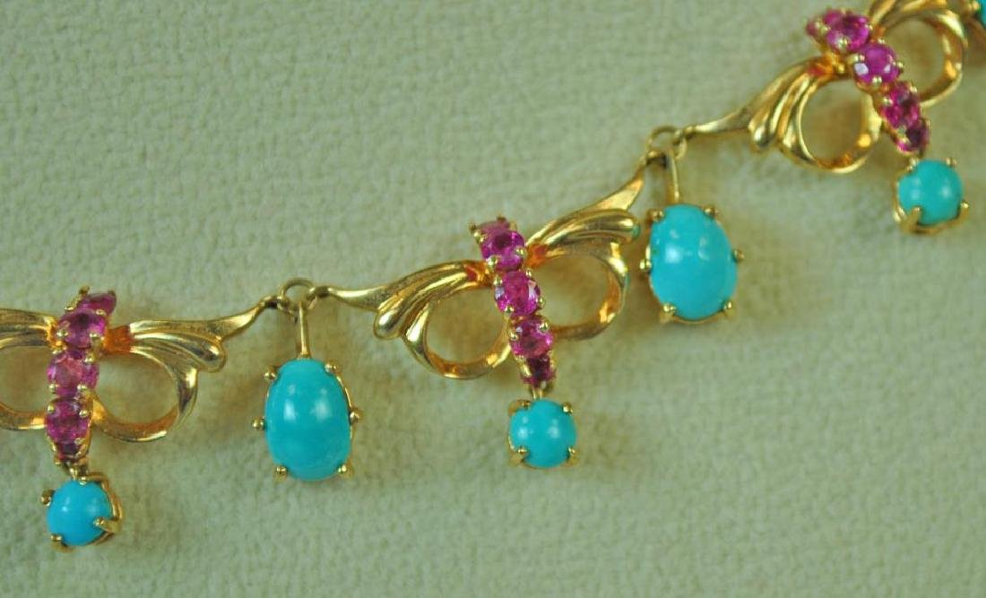 TURQUOISE & RUBY CHOKER - 2