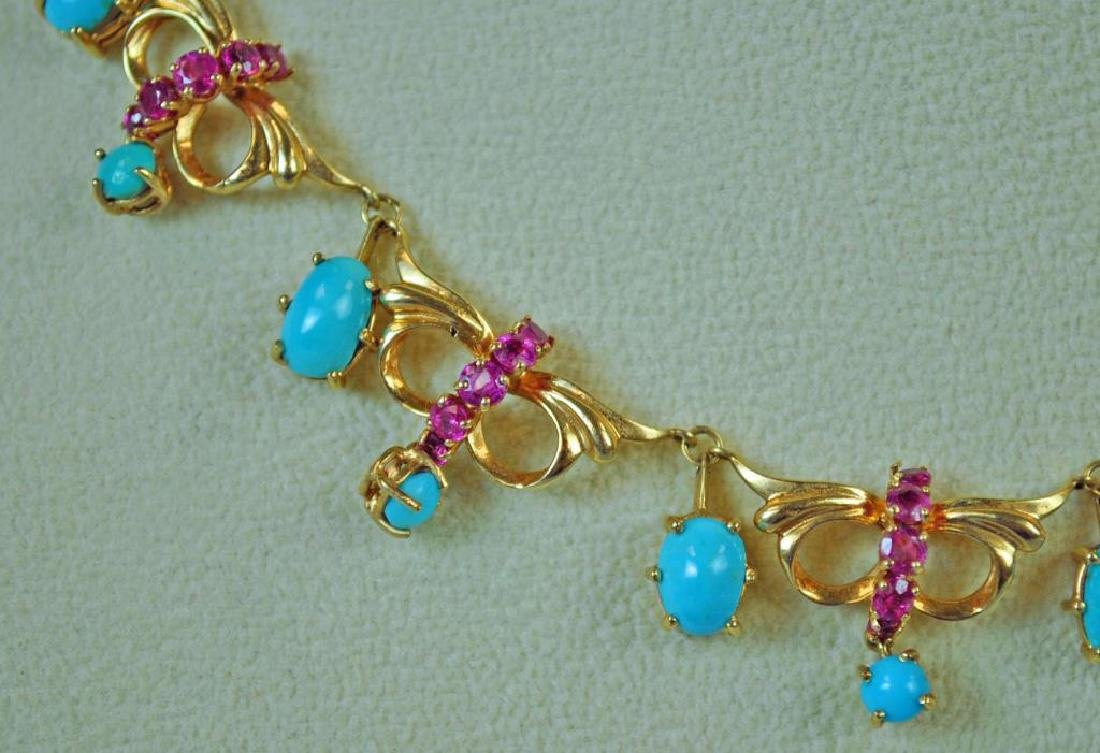 TURQUOISE & RUBY CHOKER - 3