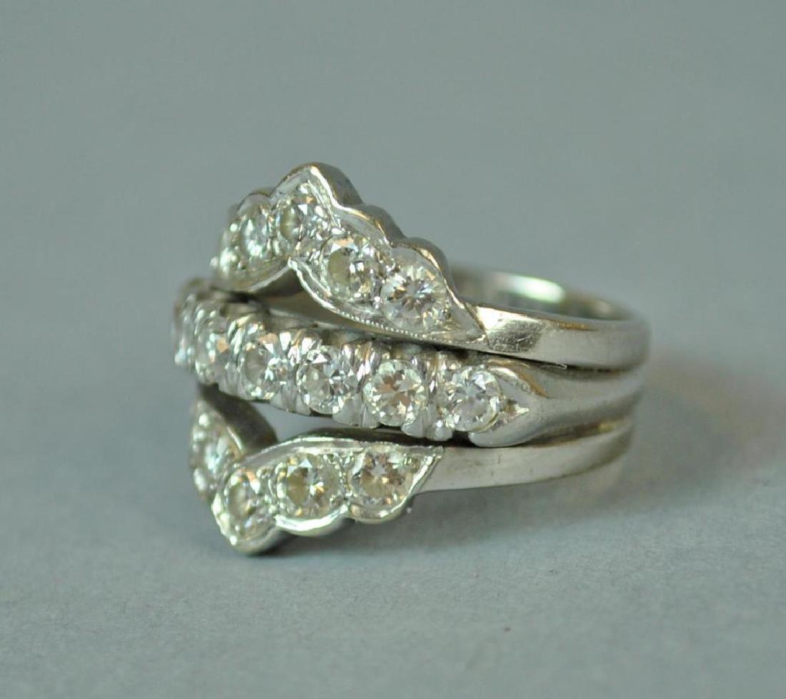 GOLD & PLATINUM DIAMOND WEDDING RING