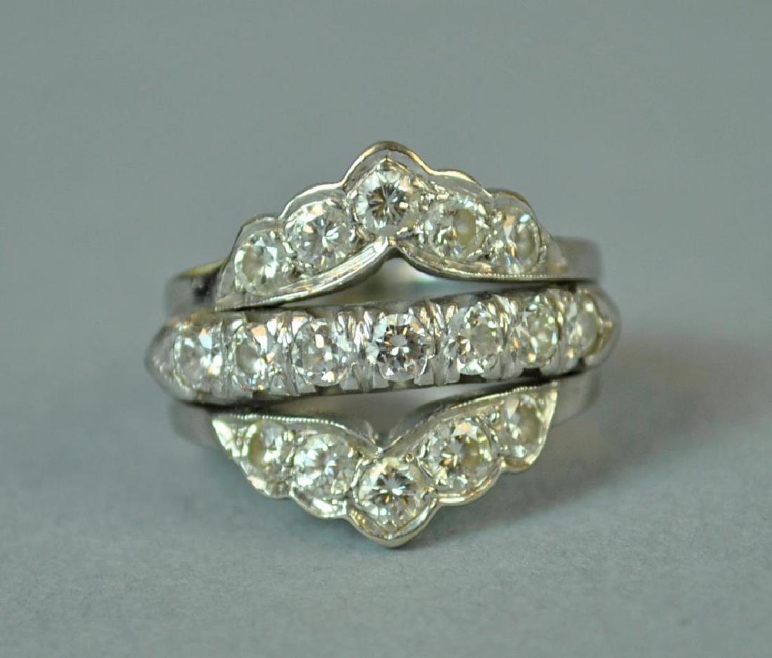 GOLD & PLATINUM DIAMOND WEDDING RING - 2