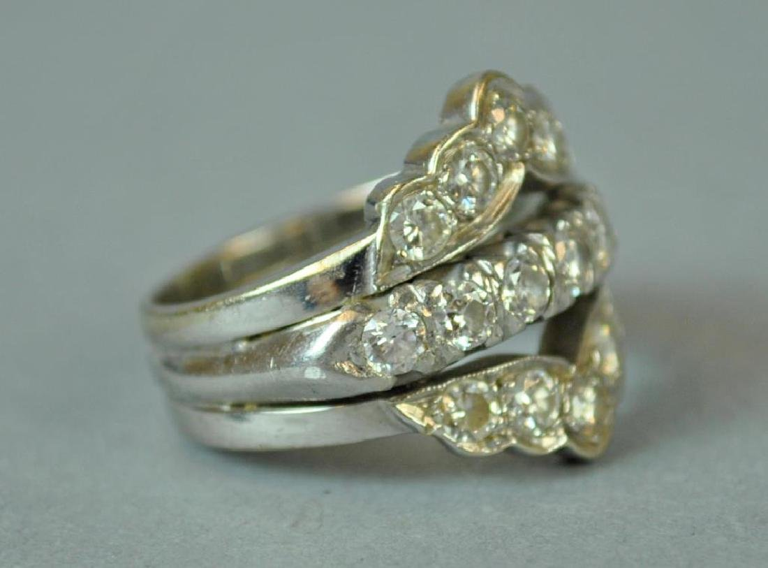 GOLD & PLATINUM DIAMOND WEDDING RING - 3