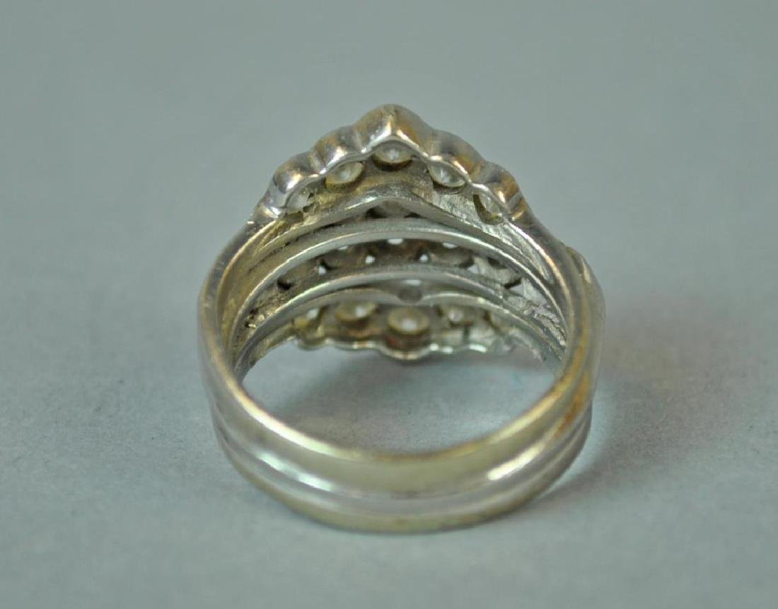 GOLD & PLATINUM DIAMOND WEDDING RING - 4
