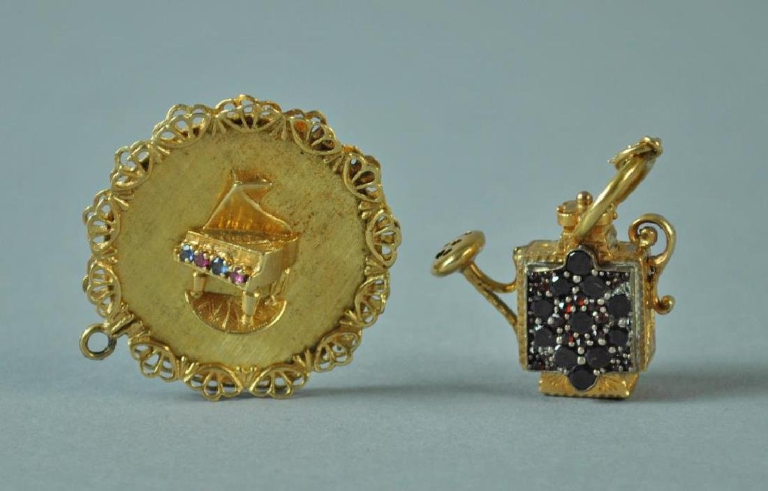 (2) LARGE GOLD CHARMS