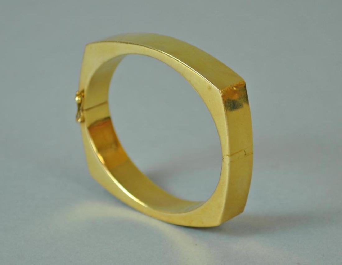 GOLD SQUARE BANGLE BRACELET