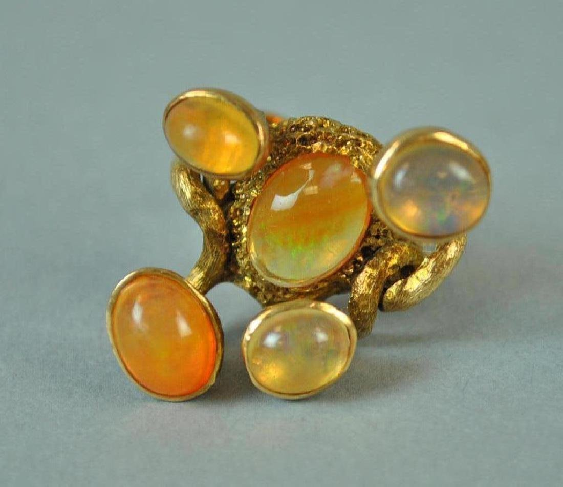 MEXICAN OPAL FREE FORM RING