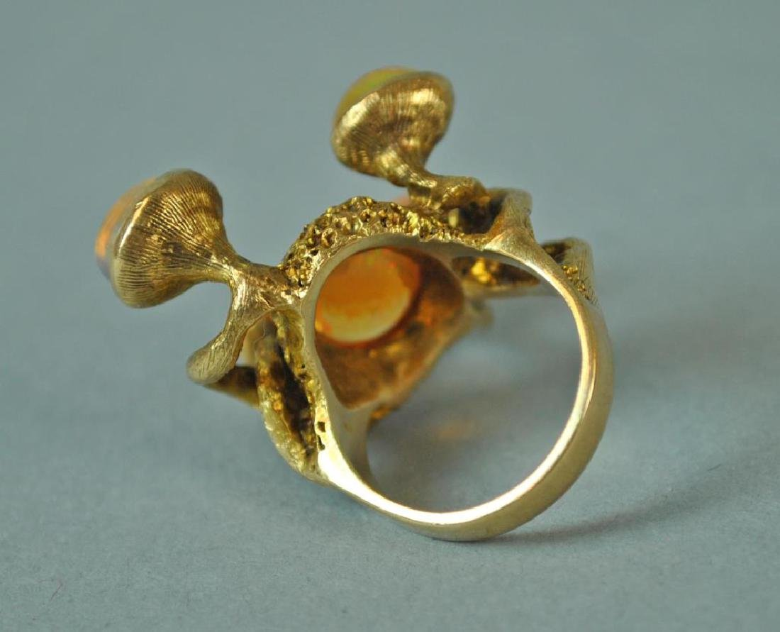 MEXICAN OPAL FREE FORM RING - 2