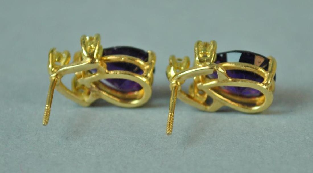 AMETHYST & DIAMOND EARRINGS - 3