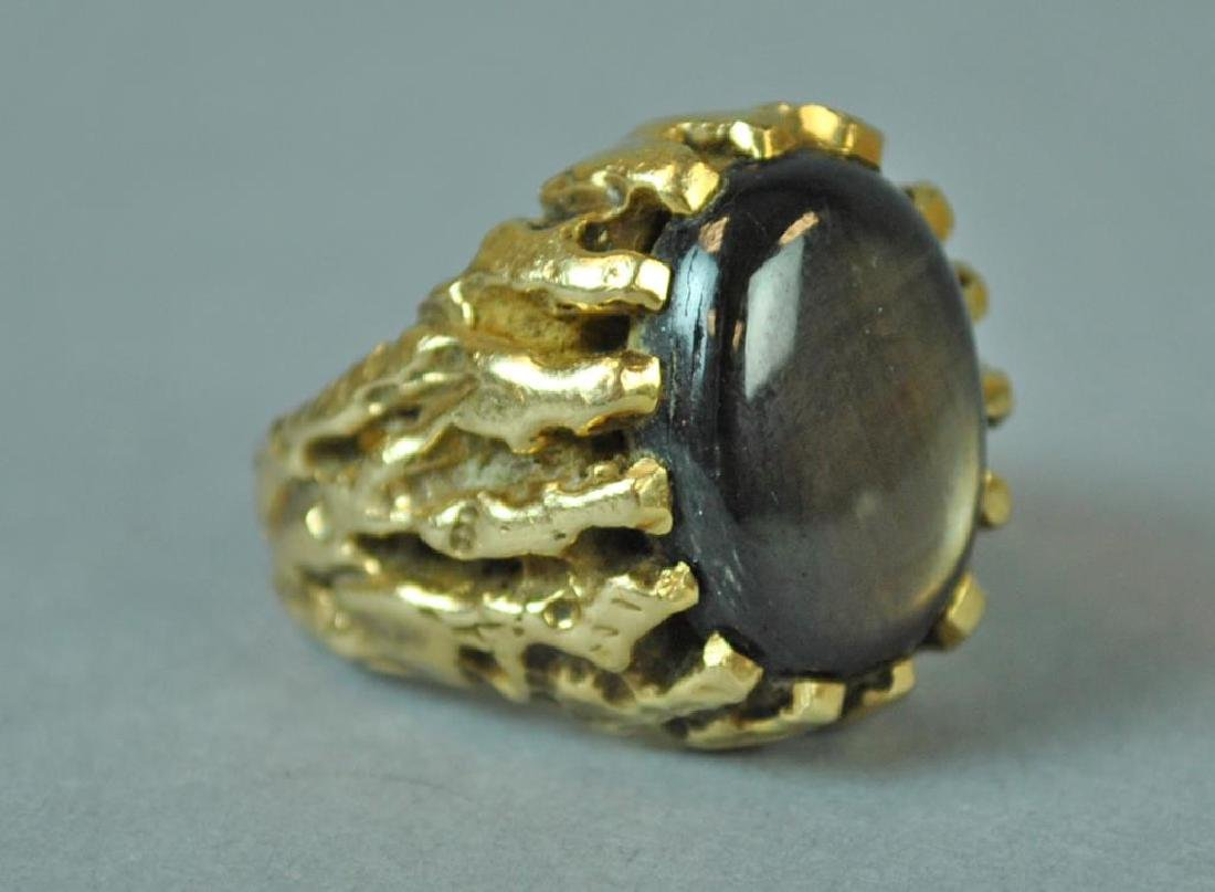 GENT'S BLACK MOONSTONE RING