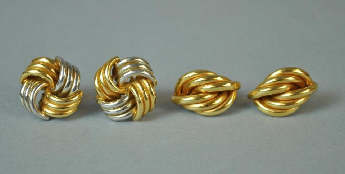 (2) PAIRS OF GOLD EARRINGS