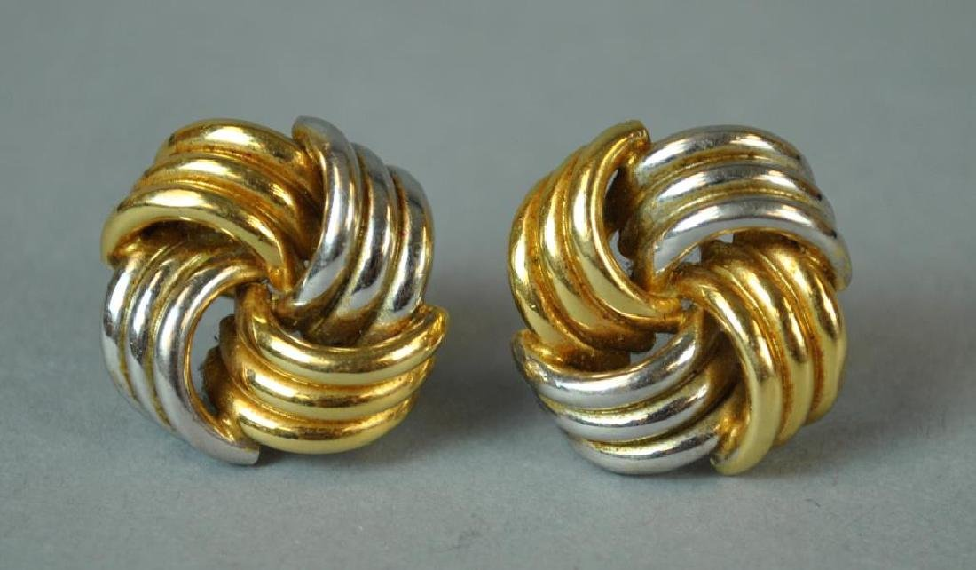 (2) PAIRS OF GOLD EARRINGS - 2