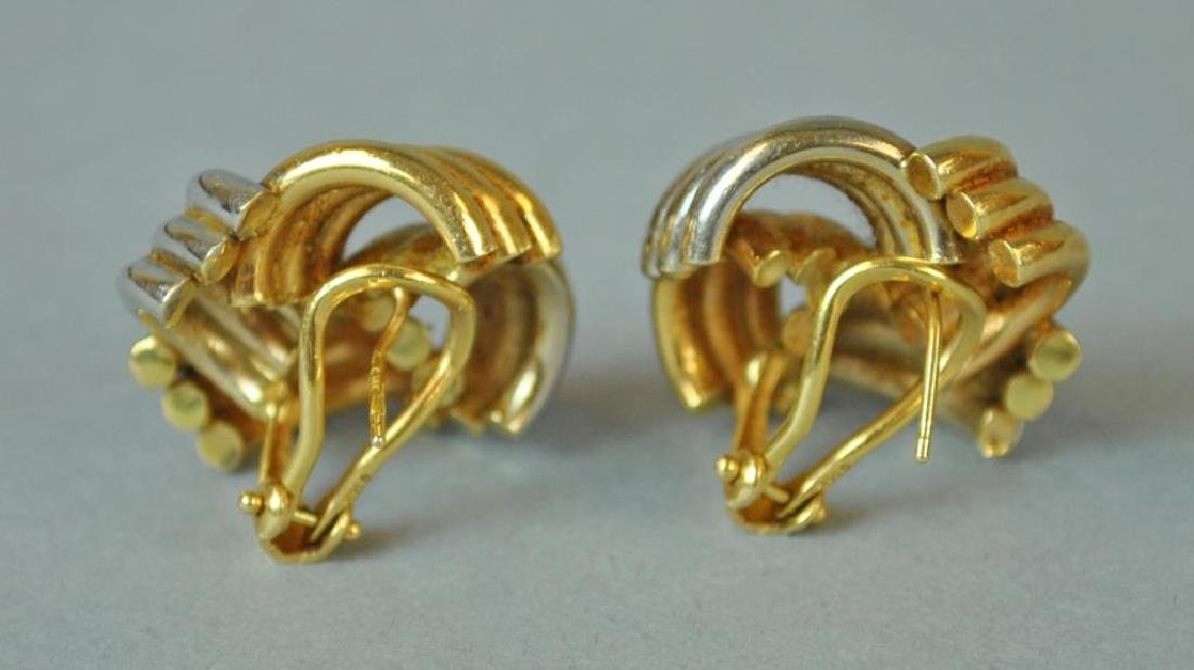 (2) PAIRS OF GOLD EARRINGS - 3