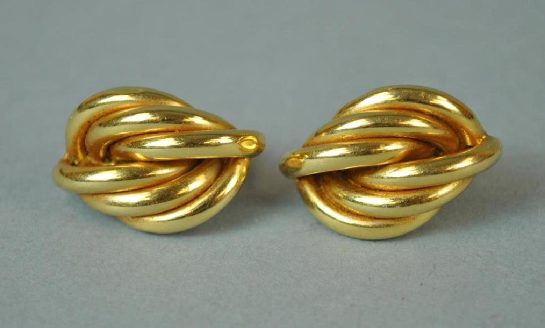 (2) PAIRS OF GOLD EARRINGS - 4