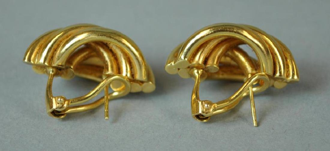 (2) PAIRS OF GOLD EARRINGS - 5