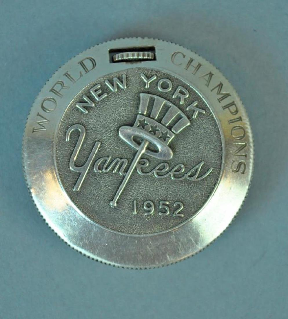 1952 WORLD CHAMPION NEW YORK YANKEES POCKET WATCH