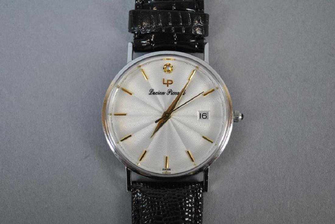 LUCIEN PICCARD WHITE GOLD CASE WATCH