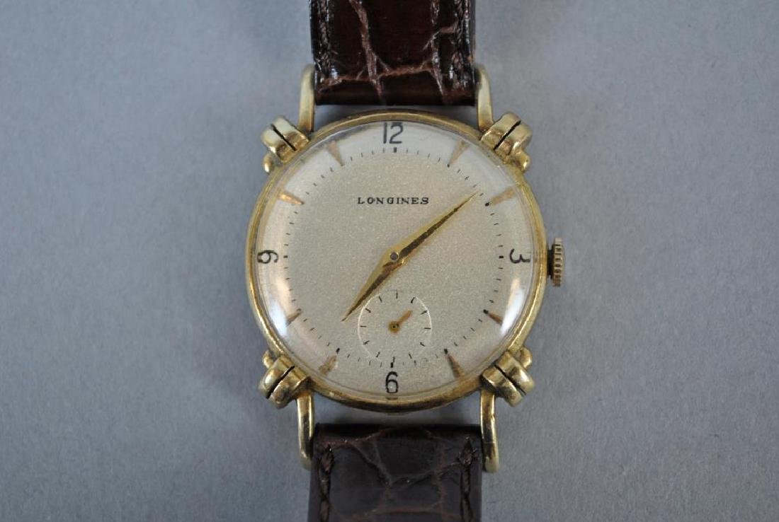 VINTAGE LONGINES GOLD KNOTTED LUG CASE WATCH