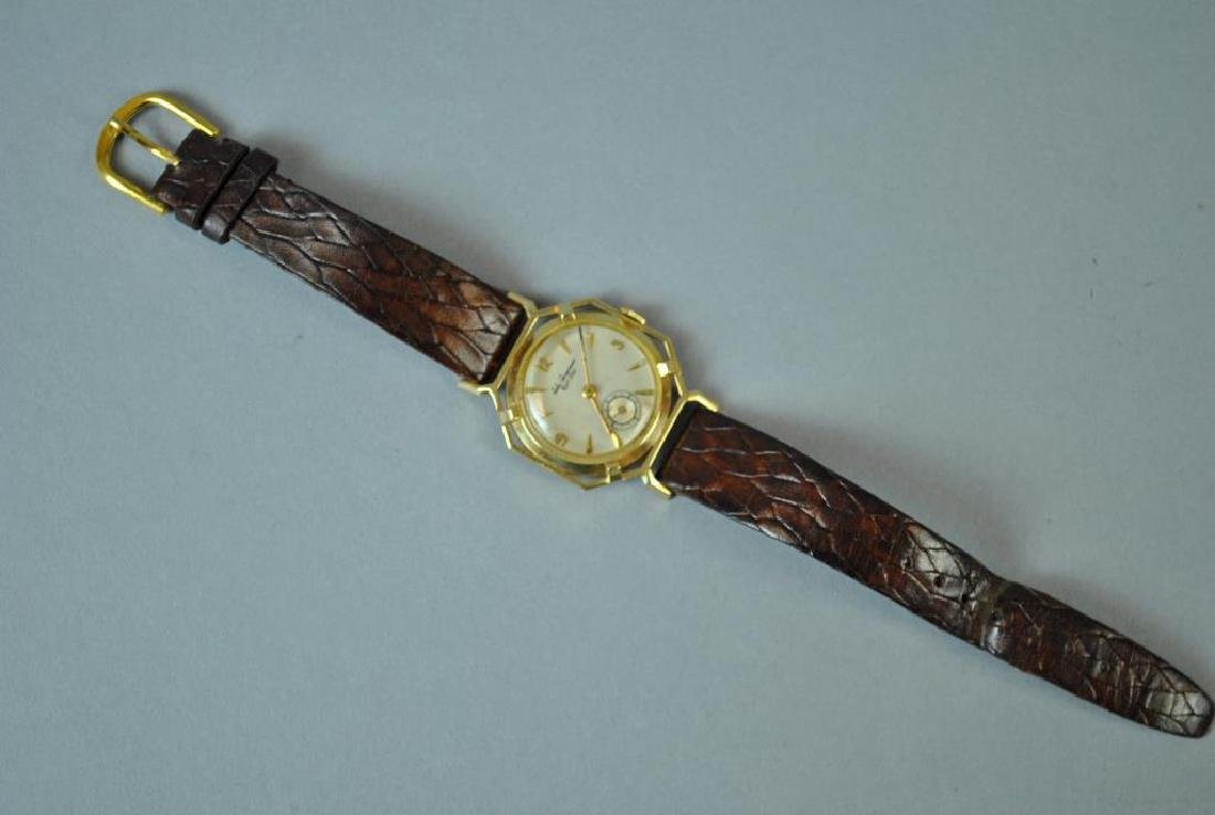 VINTAGE LONGINES GOLD KNOTTED LUG CASE WATCH - 3