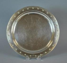 TIFFANY & CO. STERLING ST. DUNSTAN SALVER