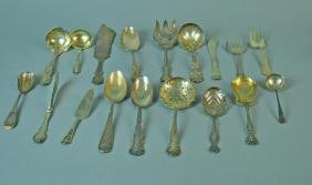 (18) PIECE STERLING TABLEWARE GROUP